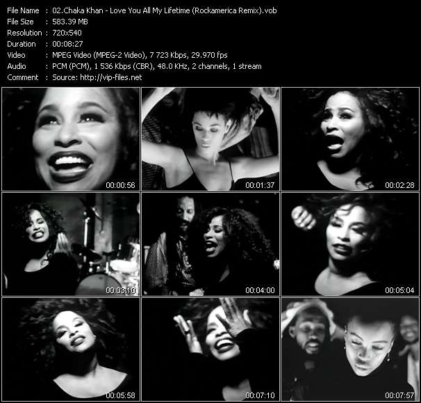 Chaka Khan video - Love You All My Lifetime (Rockamerica Remix)