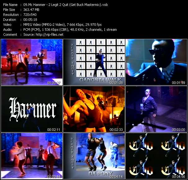 Mc Hammer video - 2 Legit 2 Quit (Get Buck Mastermix)