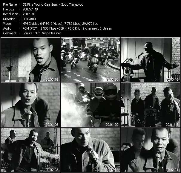 Fine Young Cannibals video - Good Thing