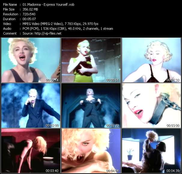 Madonna video - Express Yourself