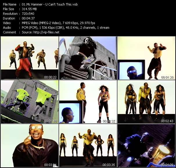 Mc Hammer video - U Can't Touch This
