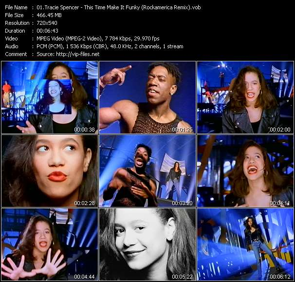 Tracie Spencer HQ Videoclip «This Time Make It Funky (Rockamerica Remix)»