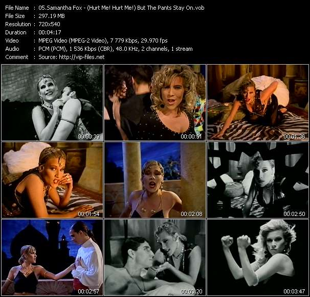 Samantha Fox HQ Videoclip «(Hurt Me! Hurt Me!) But The Pants Stay On»