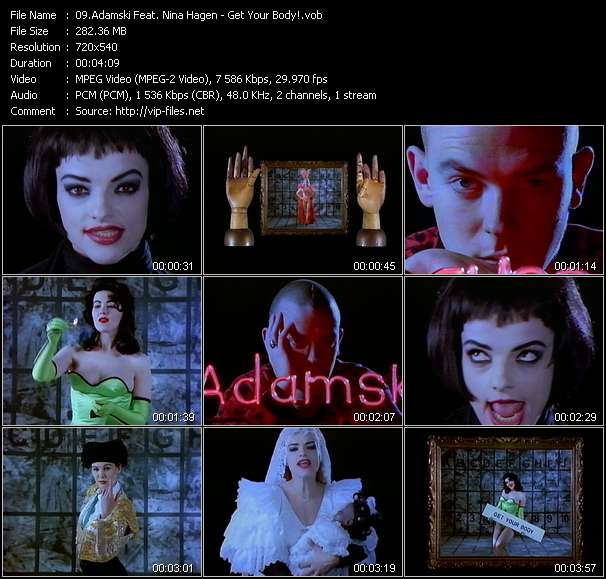 Adamski Feat. Nina Hagen video - Get Your Body!