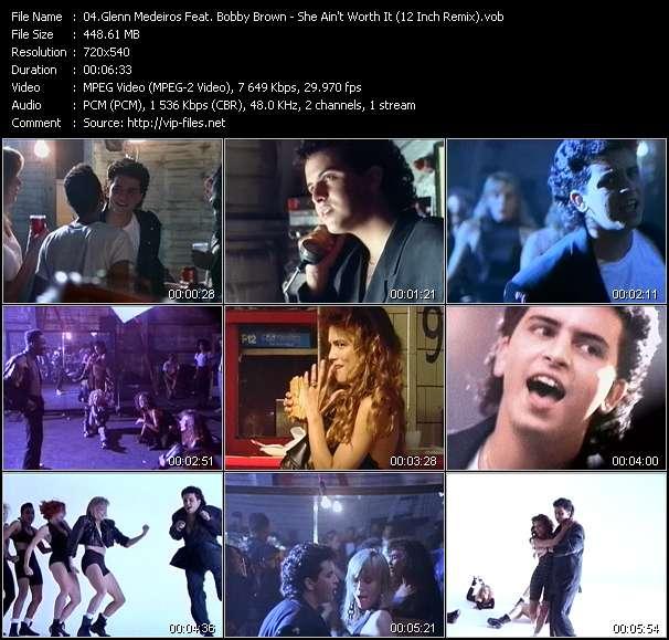 Glenn Medeiros Feat. Bobby Brown HQ Videoclip «She Ain't Worth It (12 Inch Remix)»