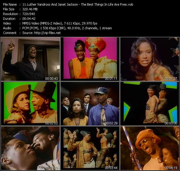 Luther Vandross And Janet Jackson HQ Videoclip «The Best Things In Life Are Free»