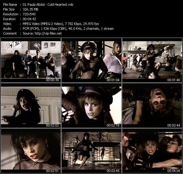 Paula Abdul video - Cold Hearted