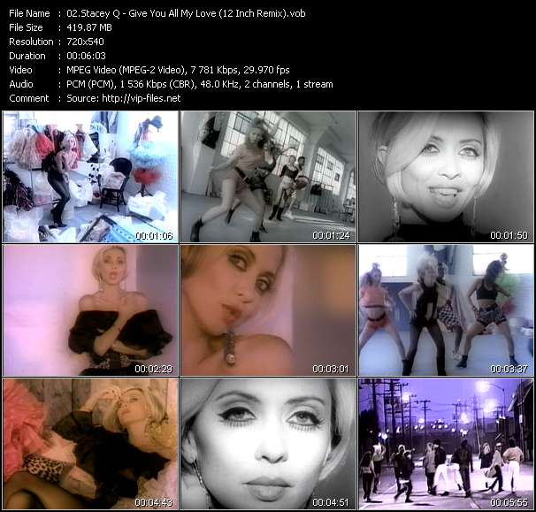 Stacey Q HQ Videoclip «Give You All My Love (12 Inch Remix)»