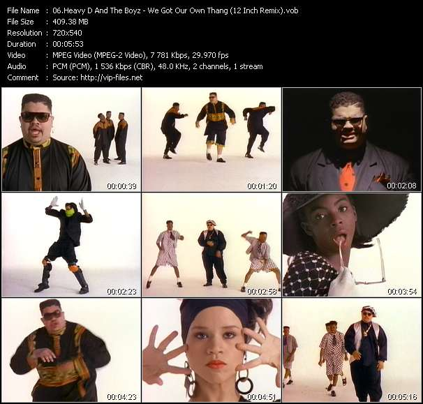 Heavy D And The Boyz video - We Got Our Own Thang (12 Inch Remix)