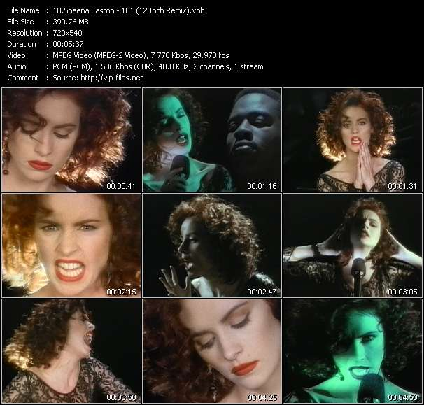 Sheena Easton video - 101 (12 Inch Remix)
