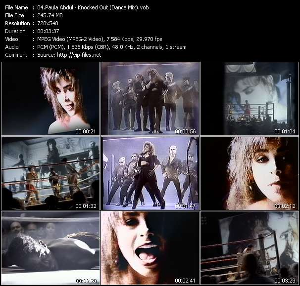 Paula Abdul HQ Videoclip «Knocked Out (Dance Mix)»