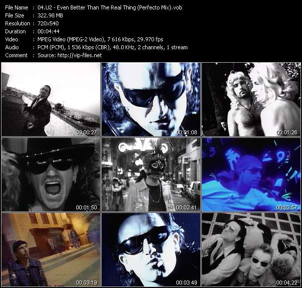 U2 video - Even Better Than The Real Thing (Perfecto Mix)