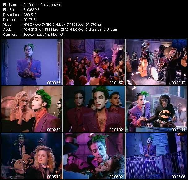 Prince video - Partyman