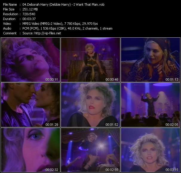Deborah Harry (Debbie Harry) HQ Videoclip «I Want That Man»