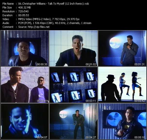 Christopher Williams video - Talk To Myself (12 Inch Remix)