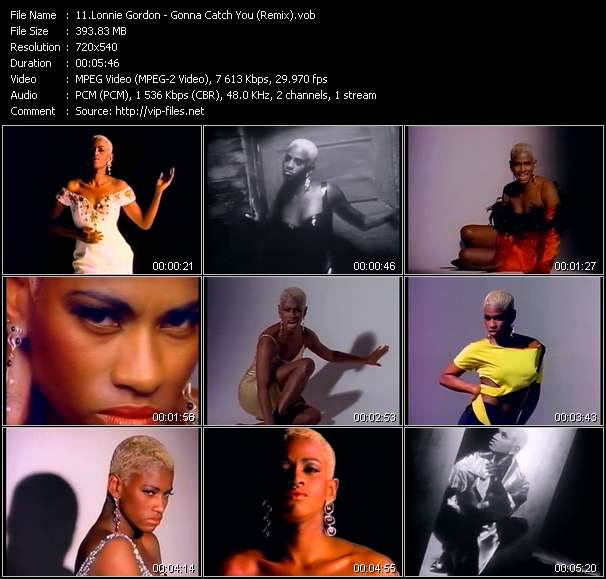Lonnie Gordon video - Gonna Catch You (Remix)