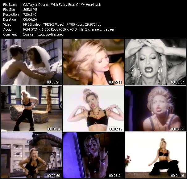 Taylor Dayne video - With Every Beat Of My Heart