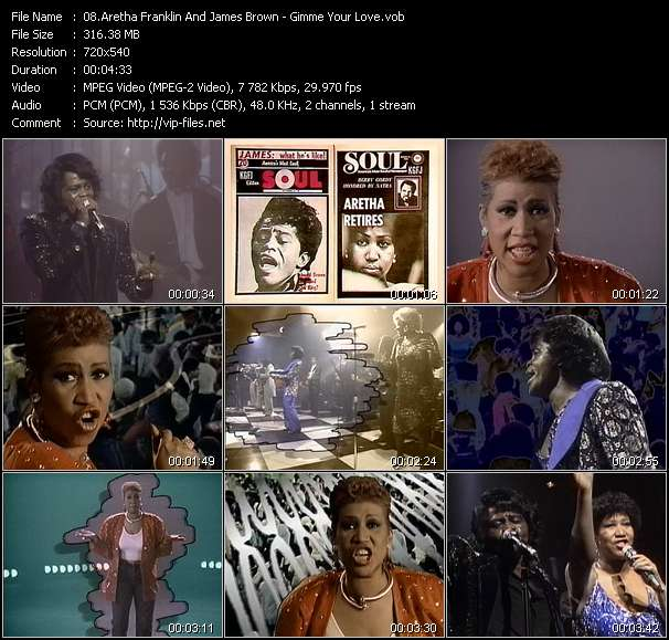 Aretha Franklin And James Brown video - Gimme Your Love