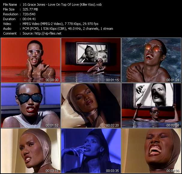 Grace Jones video - Love On Top Of Love (Killer Kiss)