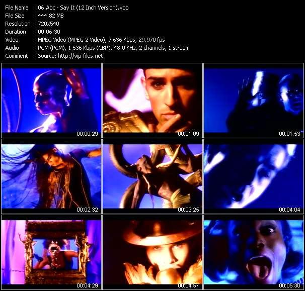 Abc HQ Videoclip «Say It (12 Inch Version)»