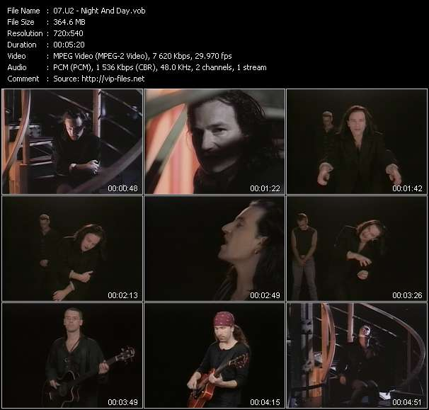 U2 video - Night And Day