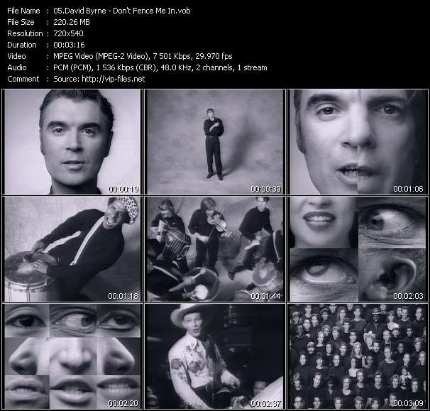 David Byrne HQ Videoclip «Don't Fence Me In»