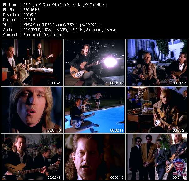 Roger McGuinn With Tom Petty HQ Videoclip «King Of The Hill»