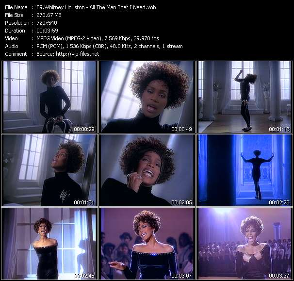 Whitney Houston HQ Videoclip «All The Man That I Need»