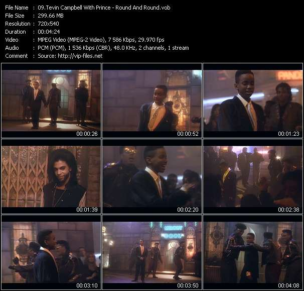Tevin Campbell With Prince HQ Videoclip «Round And Round»