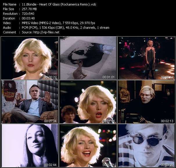 "Blondie HQ Videoclip «Heart Of Glass (Rockamerica Remix) (From The Film: ""Superstar: The Life And Times Of Andy Warhol"")»"