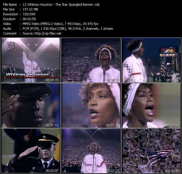 Whitney Houston HQ Videoclip «The Star Spangled Banner»