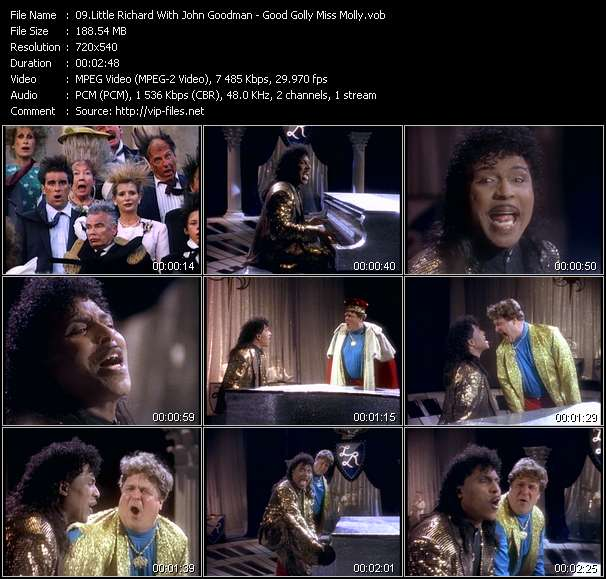 Little Richard With John Goodman video - Good Golly Miss Molly