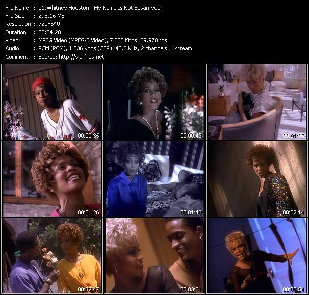 Whitney Houston HQ Videoclip «My Name Is Not Susan»