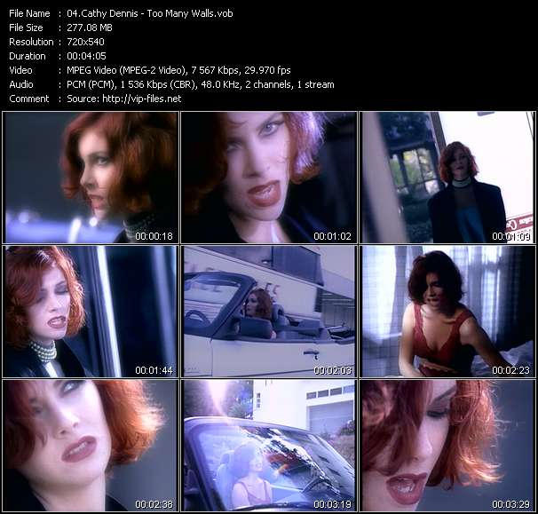 Cathy Dennis HQ Videoclip «Too Many Walls»