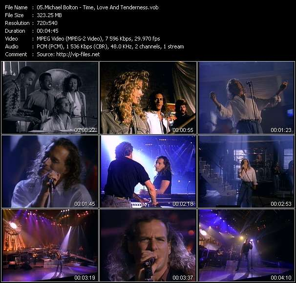 Michael Bolton HQ Videoclip «Time, Love And Tenderness»