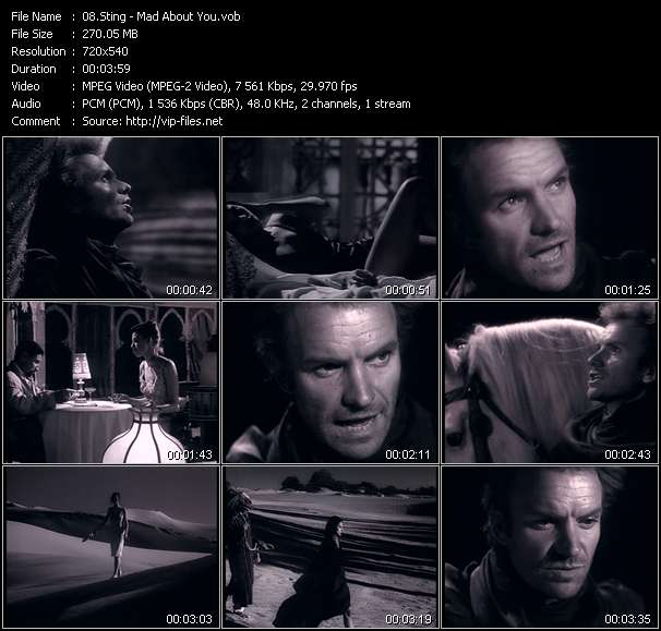 Sting HQ Videoclip «Mad About You»