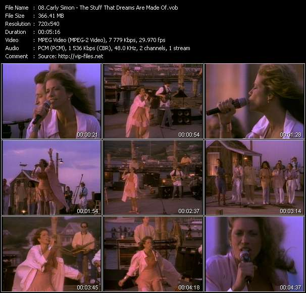 Carly Simon HQ Videoclip «The Stuff That Dreams Are Made Of»