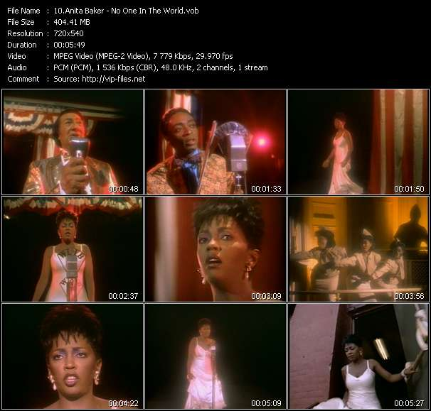 Anita Baker HQ Videoclip «No One In The World»
