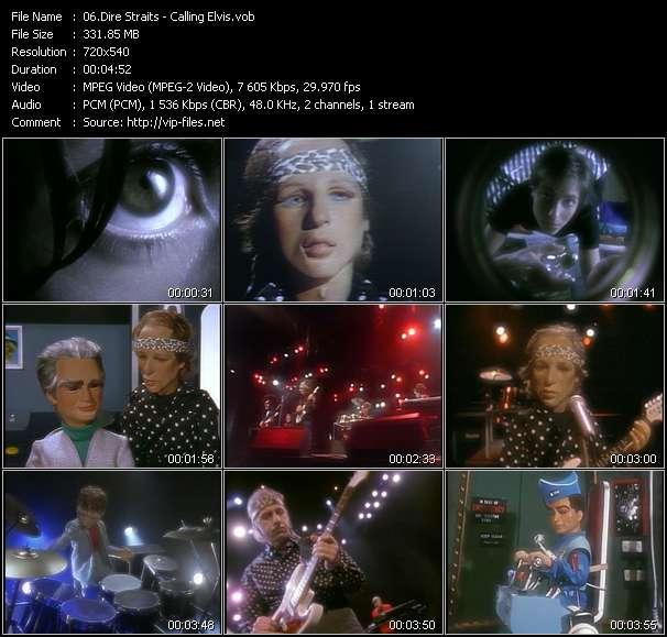 Dire Straits HQ Videoclip «Calling Elvis»
