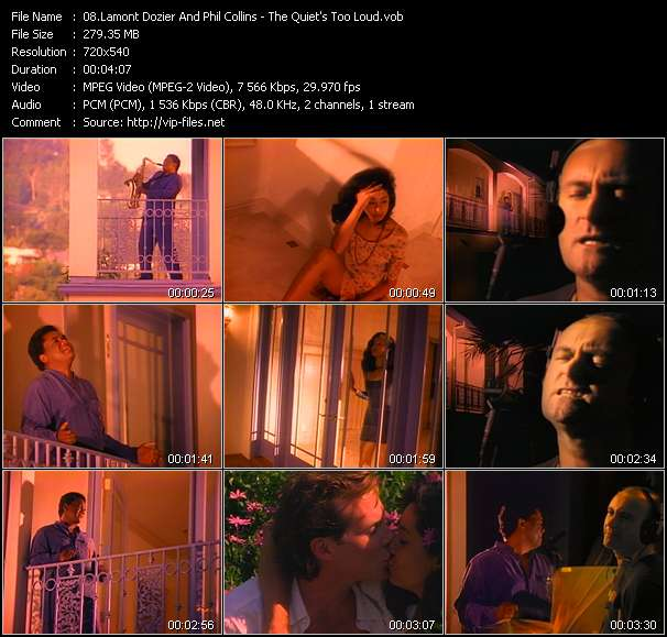Lamont Dozier And Phil Collins HQ Videoclip «The Quiet's Too Loud»
