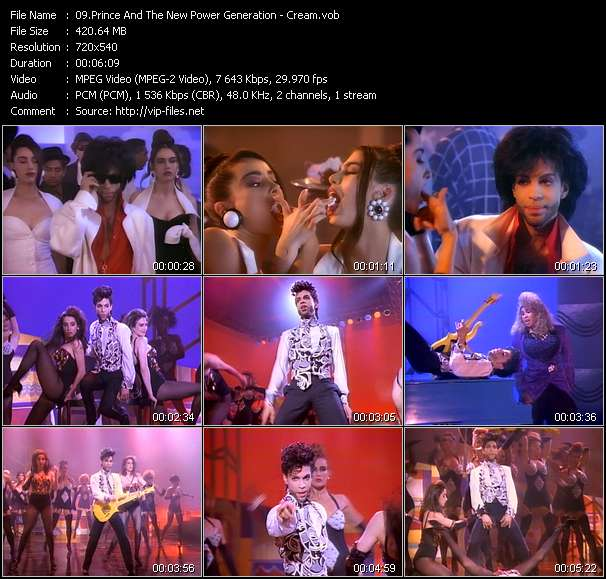 Prince And The New Power Generation HQ Videoclip «Cream»