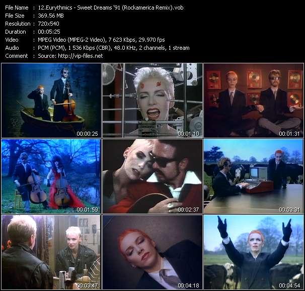 Eurythmics HQ Videoclip «Sweet Dreams '91 (Rockamerica Remix)»