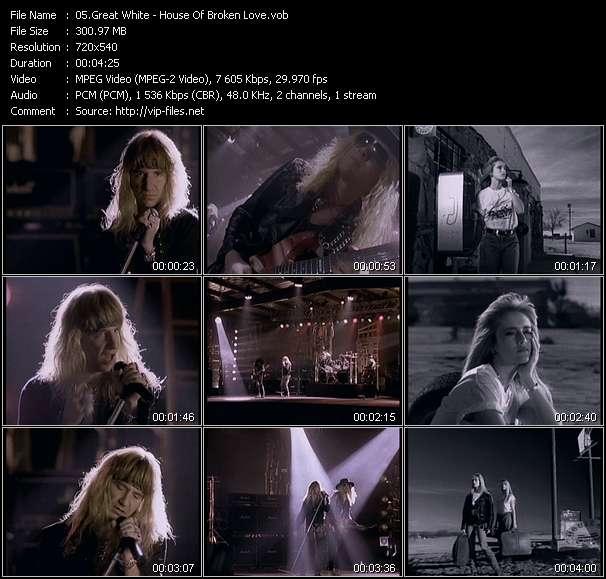Great White HQ Videoclip «House Of Broken Love»