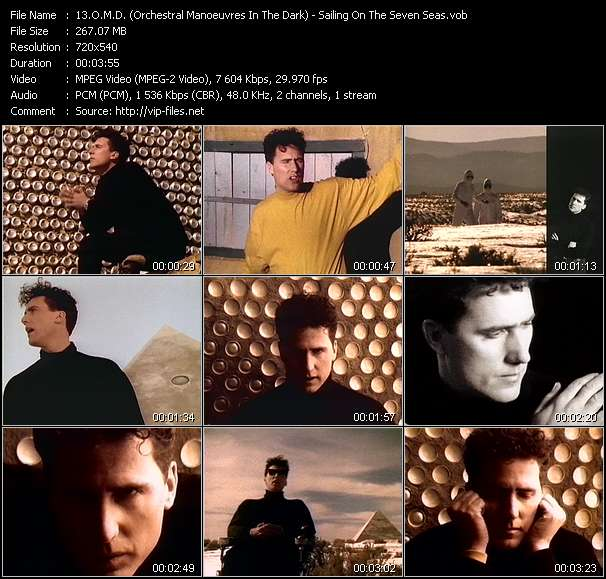 O.M.D. (Orchestral Manoeuvres In The Dark) video - Sailing On The Seven Seas