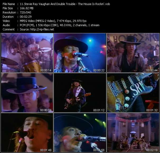 Stevie Ray Vaughan And Double Trouble HQ Videoclip «The House Is Rockin'»