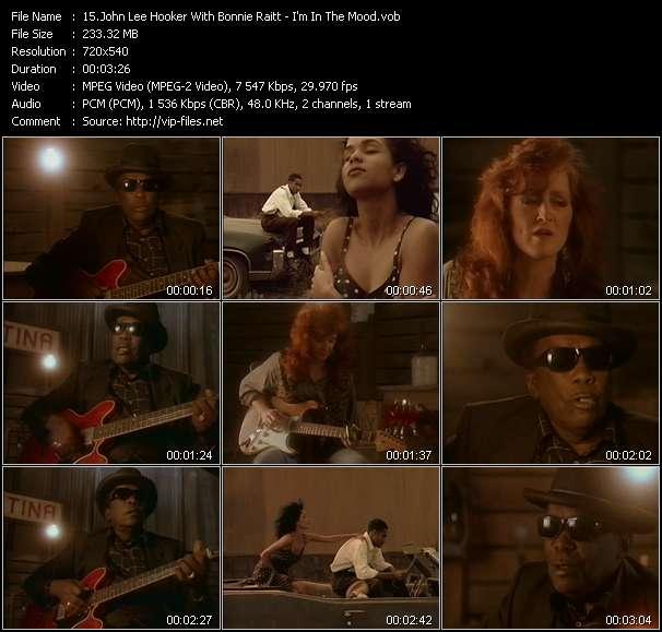 John Lee Hooker With Bonnie Raitt HQ Videoclip «I'm In The Mood»