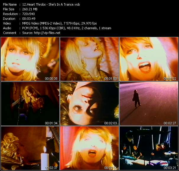 Heart Throbs HQ Videoclip «She's In A Trance»