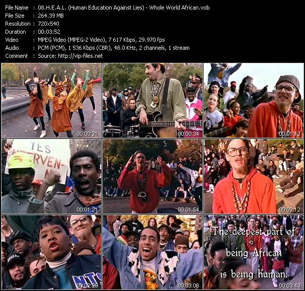H.E.A.L. (Human Education Against Lies) video - Whole World African