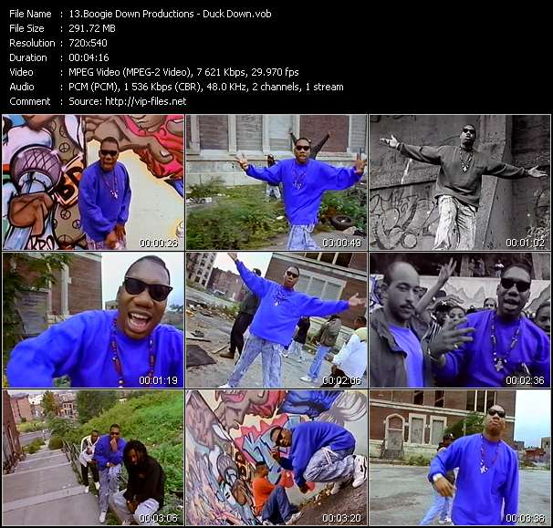 Boogie Down Productions HQ Videoclip «Duck Down»