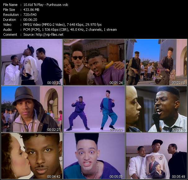 Kid 'N Play HQ Videoclip «Funhouse»